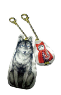 MELANTRICK HEMLIGHET メラントリックヘムライト 猫頭巾と狼の関係キーホルダー