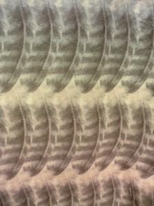 bortsprungt ボシュプルメットフクロウの羽柄タイツ アップ