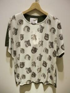bortsprungt ボシュプルメット動物マスク総柄Tシャツ 39 表