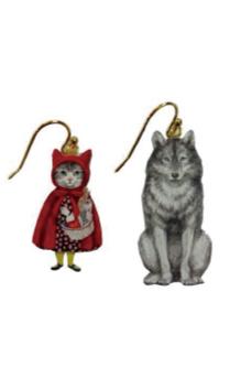 MELANTRICK HEMLIGHET メラントリックヘムライト 猫頭巾と狼の関係ピアス