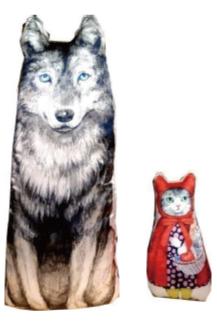 MELANTRICK HEMLIGHET メラントリックヘムライト 猫頭巾と狼の関係クッション