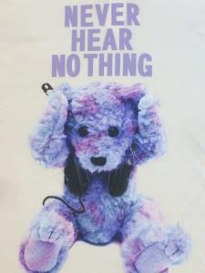 IMG 49041 225x300 【MILKBOY/ミルクボーイ】NEVER HEAR BEAR BIG TEEパープルカラー入荷!!!
