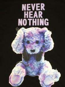 IMG 4906 225x300 【MILKBOY/ミルクボーイ】NEVER HEAR BEAR BIG TEEパープルカラー入荷!!!