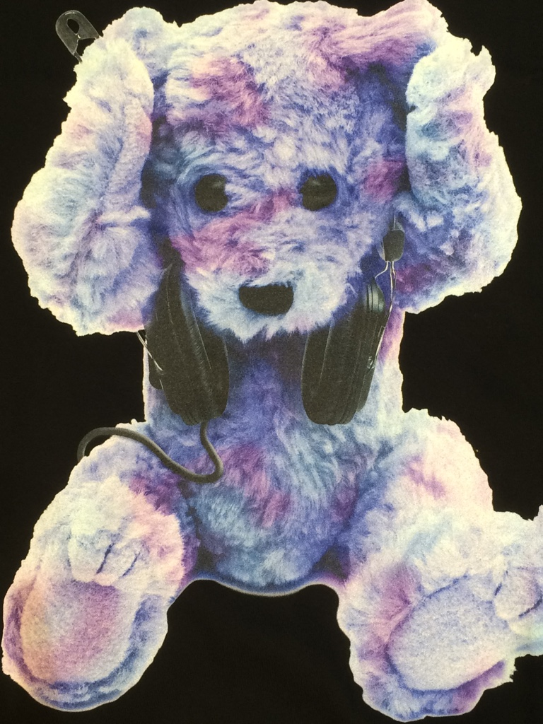 IMG 4907 【MILKBOY/ミルクボーイ】NEVER HEAR BEAR BIG TEEパープルカラー入荷!!!